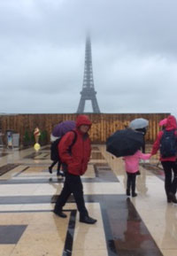 Colin at the Eiffel Tower
